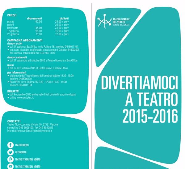 DIVERTIAMOCI A TEATRO - STAGIONE 2015/2016