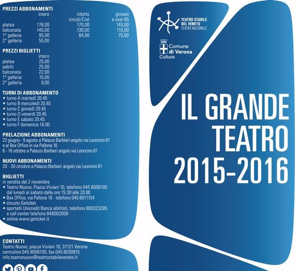 IL GRANDE TEATRO - STAGIONE 2015/2016