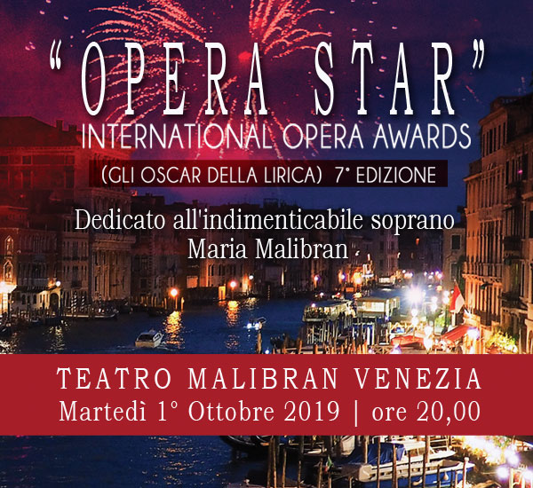 Opera Star - International Opera Awards (Gli Oscar della Lirica)