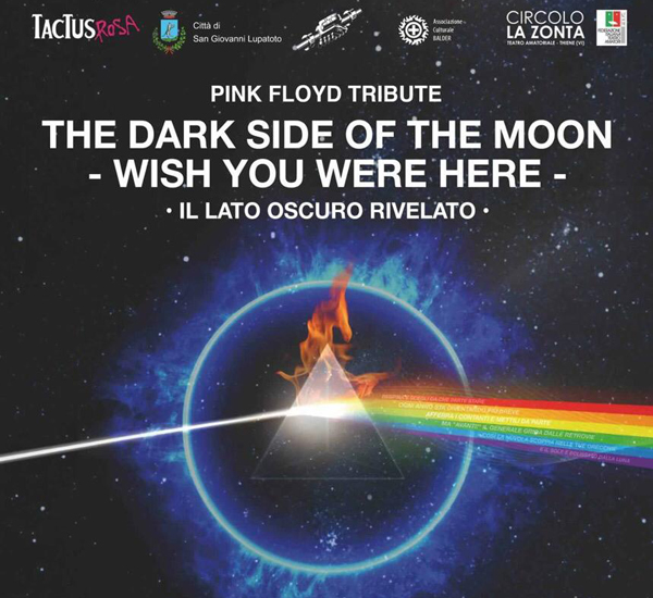 PINK FLOYD TRIBUTE:THE DARK SIDE OF THE MOON RIVELATO