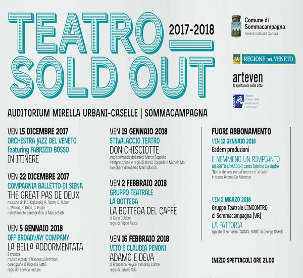 TEATRO SOLD OUT - STAGIONE 2017-2018